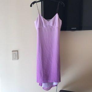 Ombré purple silk Express dress